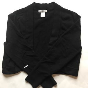 Cache Black Cropped Cardigan